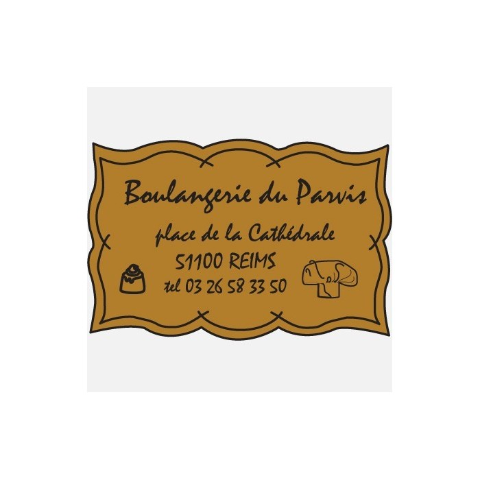 Etiquette adhésive PAPIER COUCHE OR MINI 40X25