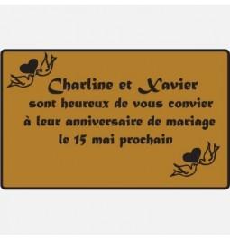 Etiquette adhésive PAPIER COUCHE OR MINI 40X30